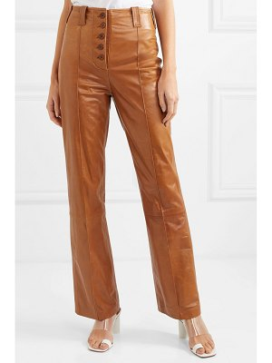 3.1 phillip lim leather flared pants