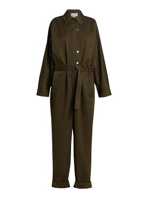 3.1 phillip lim long-sleeve twill utility jumpsuit