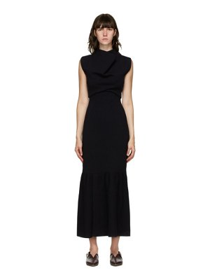 3.1 phillip lim navy cowl neck dress