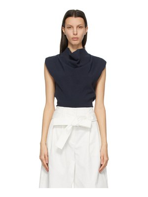 3.1 phillip lim navy cowl neck tank top