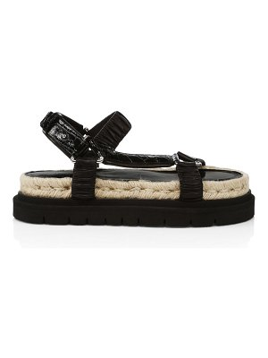 3.1 phillip lim noa croc-embossed leather platform sport sandals