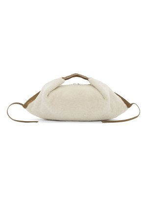 3.1 phillip lim off-white shearling mini luna slouchy hobo bag