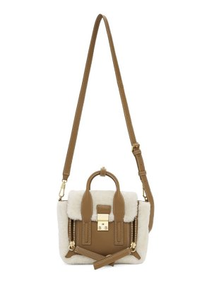 3.1 phillip lim off-white shearling mini pashli satchel bag