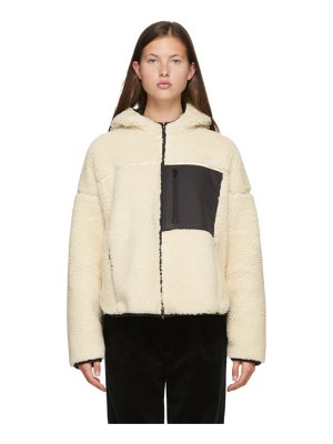 3.1 phillip lim off-white sherpa bonded sporty jacket