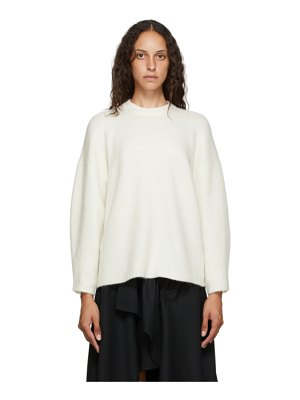 3.1 phillip lim off-white wool crewneck sweater