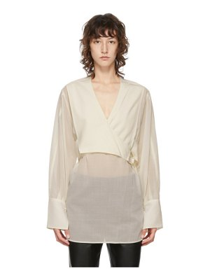 3.1 phillip lim off-white wrap waist blouse