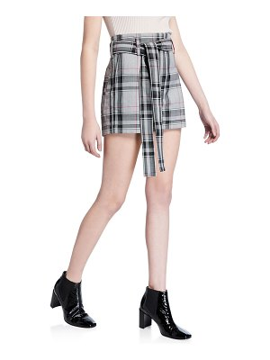 3.1 phillip lim Plaid Belted Short Shorts