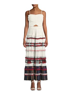 3.1 phillip lim Pleated Ruffle Cami Maxi Dress Gown