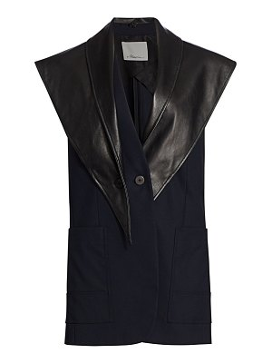 3.1 phillip lim removable leather lapel vest