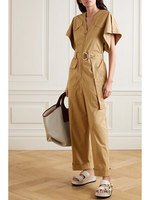 3.1 phillip lim space for giants belted organic cotton-blend twill jumpsuit