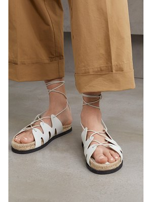 3.1 phillip lim space for giants yasmine leather espadrille sandals - off-white