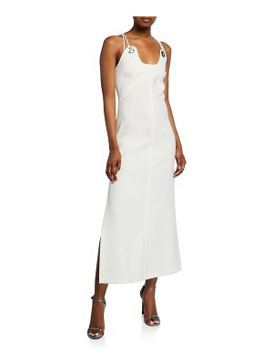 3.1 phillip lim Strappy Crepe Midi Dress with Shank Buttons
