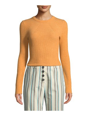 3.1 phillip lim Stretch-Wool Ribbed Pullover Sweater