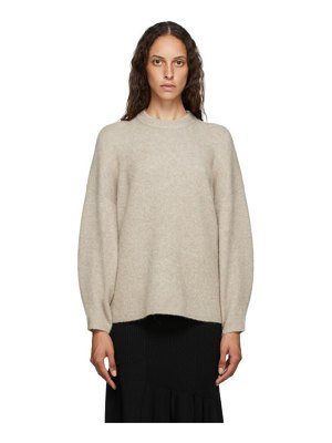 3.1 phillip lim taupe wool crewneck sweater