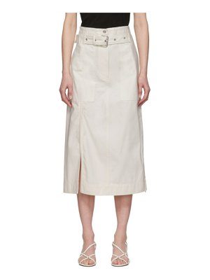 3.1 phillip lim white belted cargo skirt