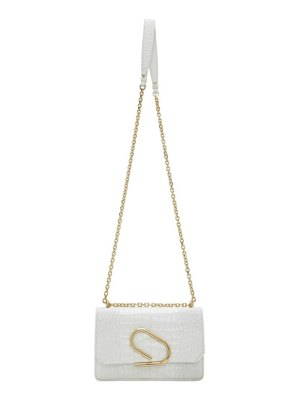 3.1 phillip lim white croc alix chain clutch