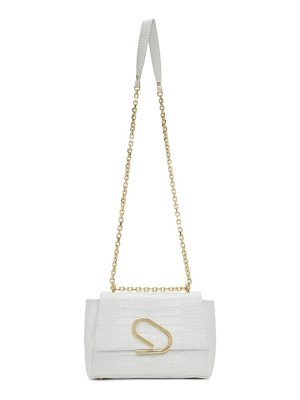 3.1 phillip lim white croc alix soft chain bag
