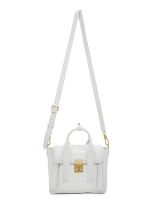 3.1 phillip lim white croc mini pashli satchel