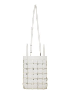 3.1 phillip lim white mini billie twisted cage tote