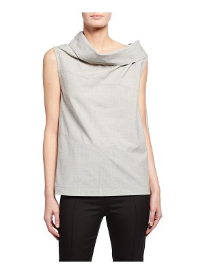 3.1 phillip lim Wool Chambray Cowl-Neck Tank