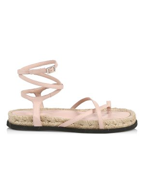 3.1 phillip lim yasmine ankle-strap leather espadrille sandals