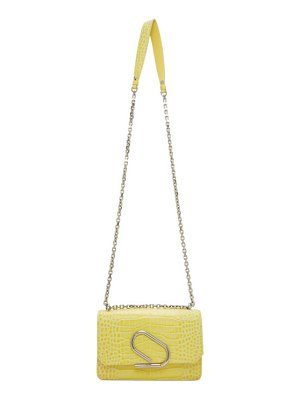 3.1 phillip lim yellow croc alix chain clutch