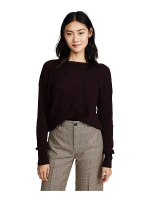 360Sweater pearl off shoulder cashmere sweater