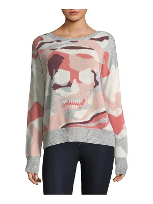 360Cashmere camouflage skull sweater