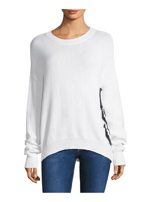 360Cashmere dinah side skull sweater