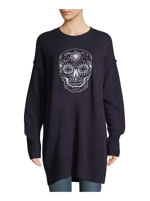 360Sweater Coco Wool-Cashmere Skull Sweaterdress