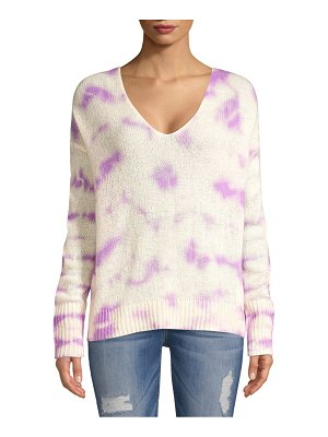 360Sweater Itzel Tie-Dyed Knit Cashmere Sweater