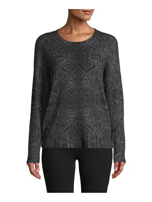 360Sweater Snakeskin-Knit Cashmere Sweater