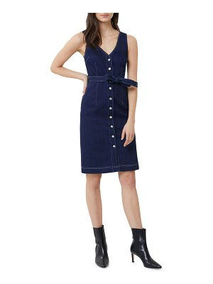 3x1 Albany Sleeveless Button-Front Belted Dress