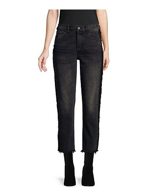 3x1 cora crop frayed jeans