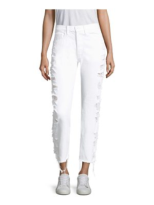 3x1 higher ground cropped distressed jeans
