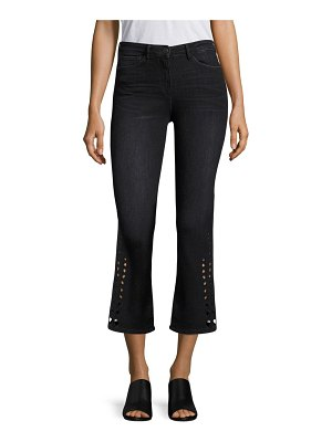 3x1 Midway Eyelet Cropped Flared Jeans