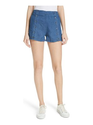 3x1 NYC amy button front denim shorts