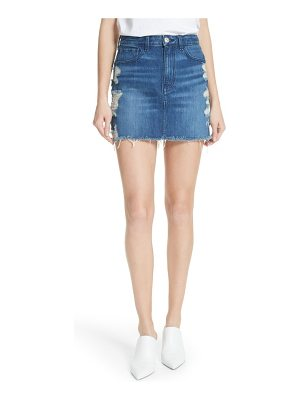 3x1 NYC celine distressed denim skirt