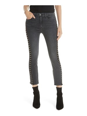 3x1 NYC corset detail ankle skinny jeans