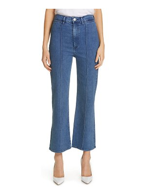 3x1 NYC nicolette pintuck crop flare jeans