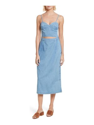 3x1 NYC peekaboo chambray midi dress
