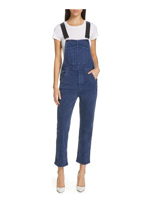 3x1 NYC rose elastic strap straight leg overalls