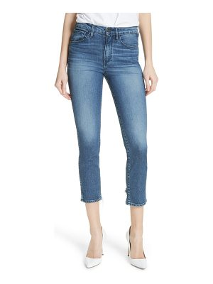 3x1 NYC w3 distressed hem crop straight leg jeans