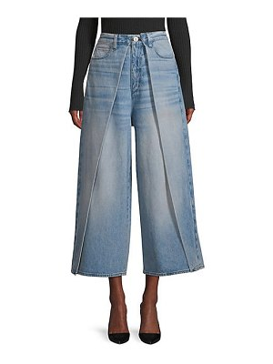3x1 porter high-rise wide-leg pleated jeans