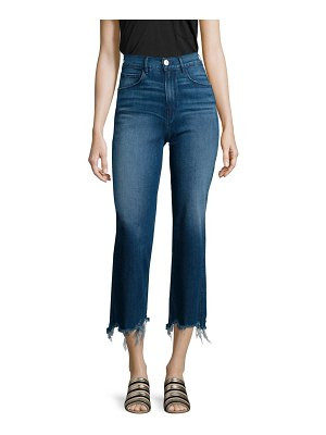 3x1 Shelter Distressed Cropped Wide-Leg Jeans