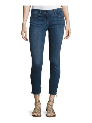 3x1 W2 Mid-Rise Skinny Cropped Frayed Jeans