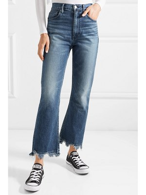 3x1 w5 empire crop distressed cropped high-rise bootcut jeans