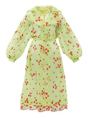 4 Moncler Simone Rocha coronilla daisy-embroidered tulle coat