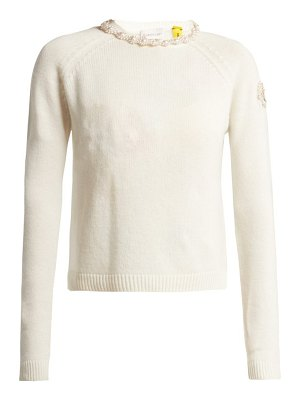4 Moncler Simone Rocha Faux Pearl Embellished Cashmere Sweater