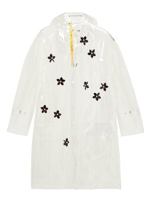 4 Moncler Simone Rocha perspex-flower transparent hooded parka